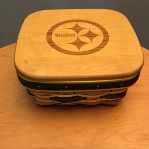 Longaberger Steelers Berry Basket and Lid